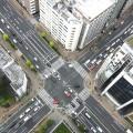 大都会の交差点イメージ(俯瞰撮影)