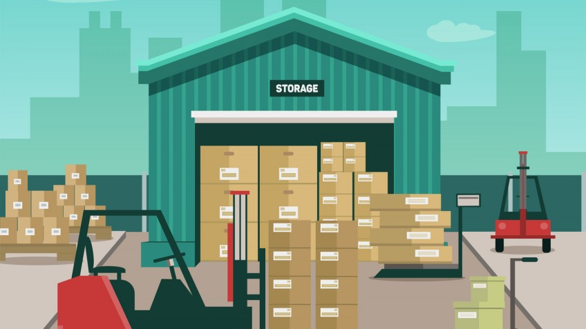 Vector illustration stack of containers, eps 10