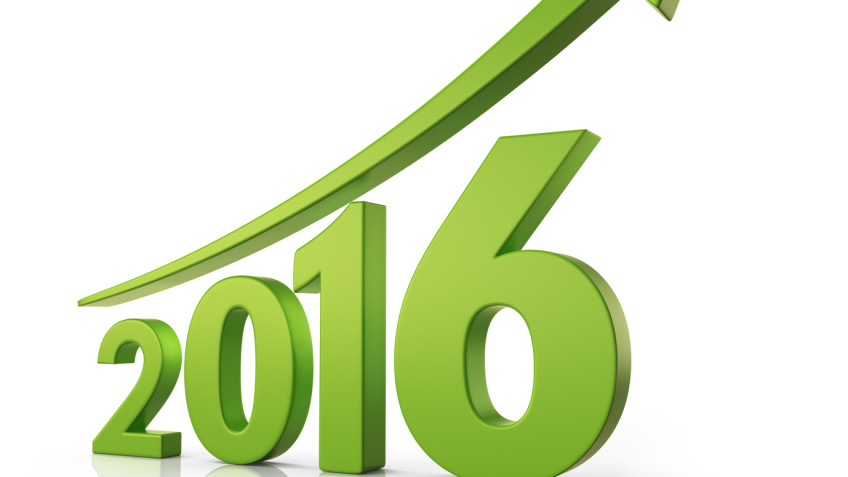 2016 Growth forecast concept