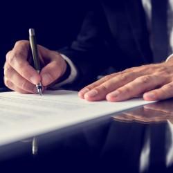 Signing legal document