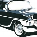 retro car in vector format