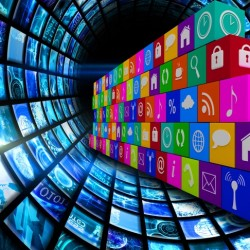 Composite image of app wall