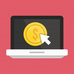 Vector Laptop Pay per Click Icon