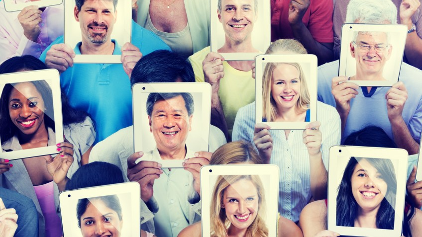 Diversity of Casual People Communication Technology Concept